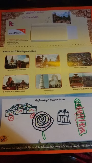 World Vision Nepal Project First Letter - Esther Neela Blog