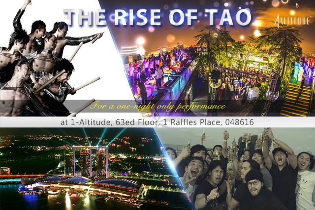 Drum Tao in Singapore @ 1-Altitude - Esther Neela Blog