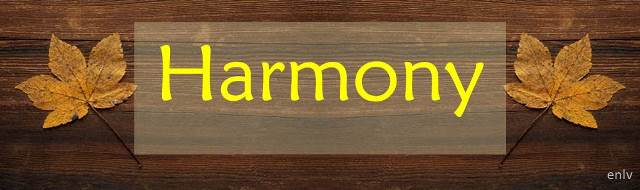 Weekly Single Word Inspiration: Harmony - Esther Neela Blog