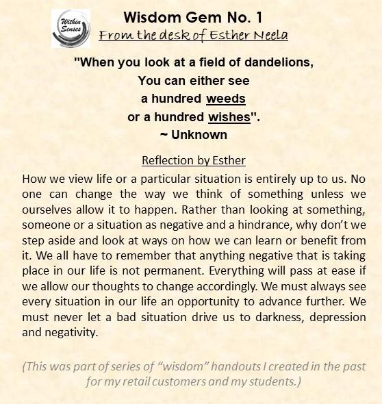 Wisdom Gem #1