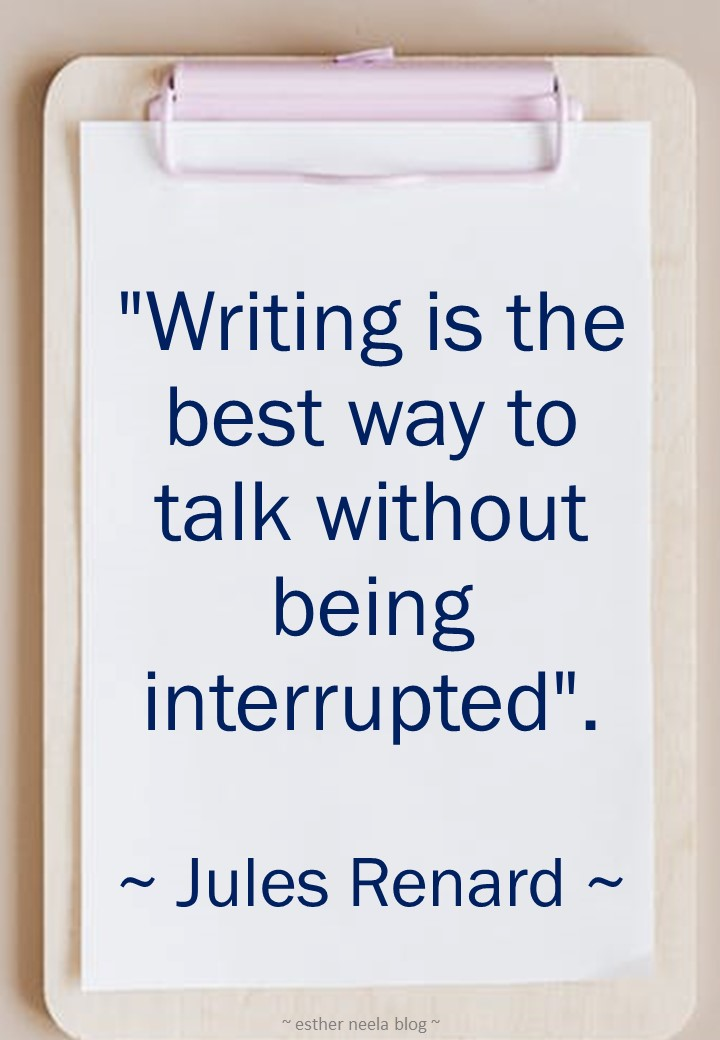 Writing is the best way to talk